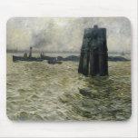 El puerto de Hamburgo, 1894 Tapetes De Ratones