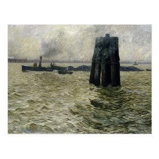 El puerto de Hamburgo, 1894 Postal