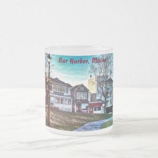 El puerto de la barra, Maine heló la taza