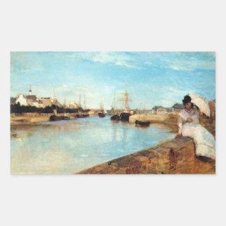 El puerto de Lorient de Berthe Morisot Pegatina Rectangular