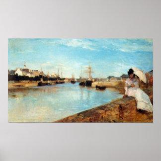 El puerto de Lorient de Berthe Morisot Póster
