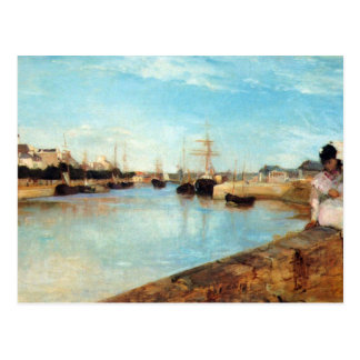 El puerto de Lorient de Berthe Morisot Tarjetas Postales