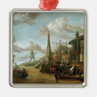 El puerto de Rodas Ornaments Para Arbol De Navidad