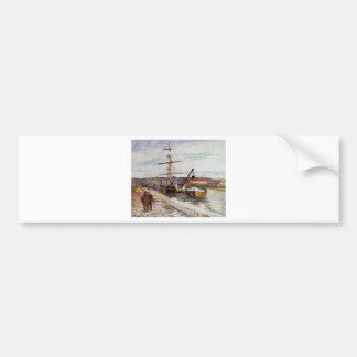 El puerto de Ruán de Camille Pissarro Pegatina Para Auto