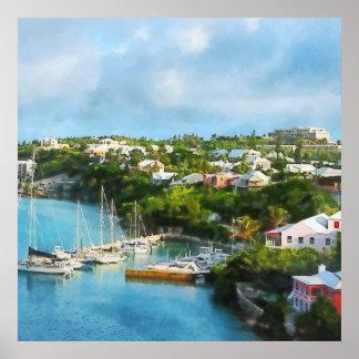El puerto de San Jorge, Bermudas Póster