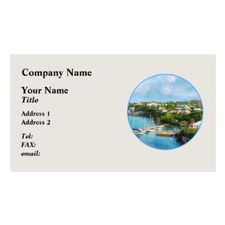 El puerto de San Jorge, Bermudas Plantilla De Tarjeta De Negocio