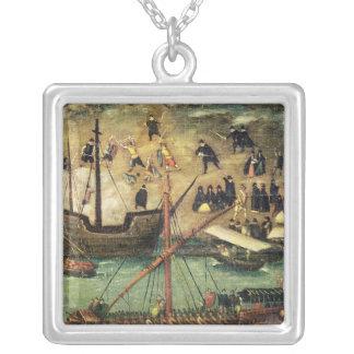 El puerto de Sevilla, c.1590 Pendiente Personalizado
