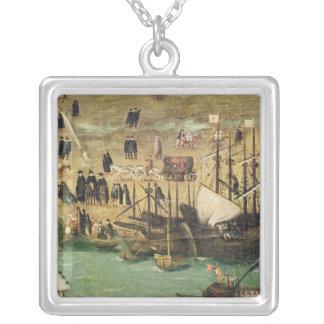El puerto de Sevilla, c.1590 Pendientes Personalizados