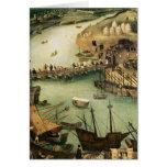 El puerto de Sevilla, c.1590 Felicitación