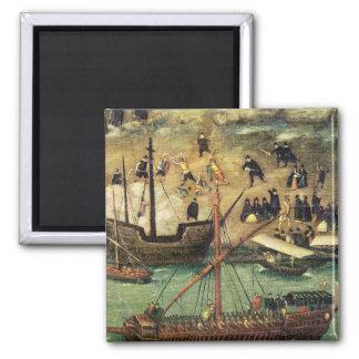 El puerto de Sevilla, c.1590 Imán De Nevera
