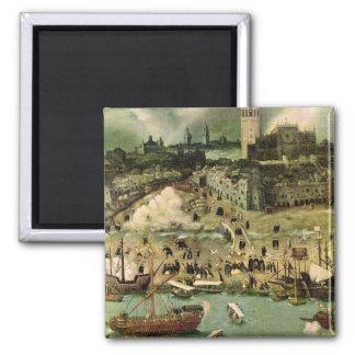 El puerto de Sevilla, c.1590 Imán Para Frigorífico