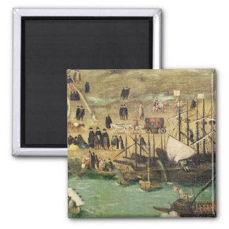 El puerto de Sevilla, c.1590 Iman Para Frigorífico