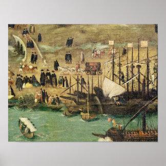 El puerto de Sevilla, c.1590 Impresiones