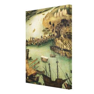 El puerto de Sevilla, c.1590 Lona Envuelta Para Galerías