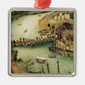 El puerto de Sevilla, c.1590 Ornamento De Navidad