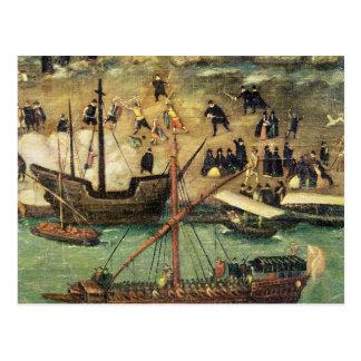 El puerto de Sevilla, c.1590 Postal