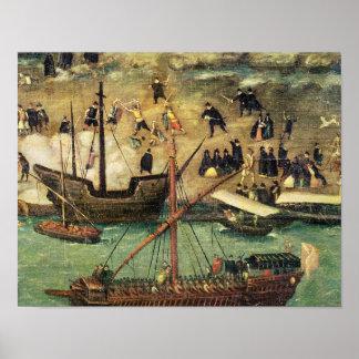 El puerto de Sevilla, c.1590 Poster