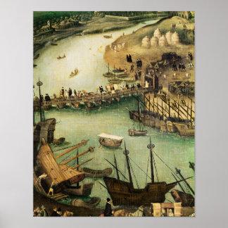 El puerto de Sevilla, c.1590 Póster