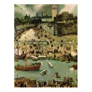 El puerto de Sevilla, c.1590 Tarjeta Postal