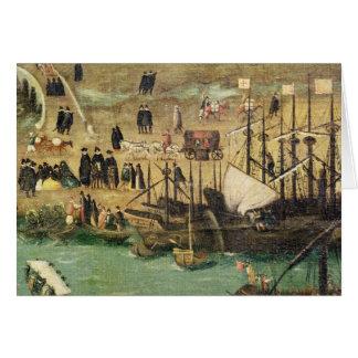 El puerto de Sevilla, c.1590 Tarjeton