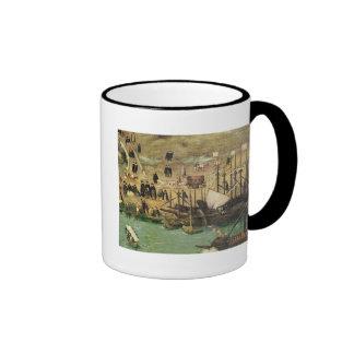 El puerto de Sevilla, c.1590 Taza De Café