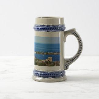 El puerto del horizonte jarra de cerveza