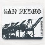 El puerto del SP Cranes Mousepad Tapetes De Ratón