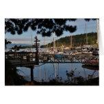 El puerto deportivo del pescador tarjeta pequeña