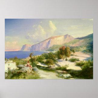 El puerto deportivo grande, Capri, c.1829 Posters
