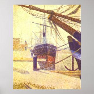 El puerto en Bonfleur, por Jorte-Pedro Seurat Posters