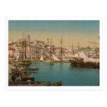 El puerto en Cannes, Francia Postal