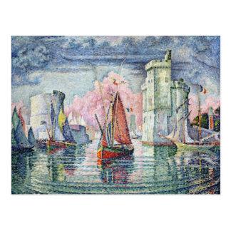 El puerto en La Rochelle, 1921 Postal