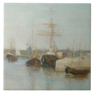 El puerto en Lorient, 1869 (aceite en lona) Azulejo Cuadrado Grande