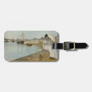 El puerto en Lorient, 1869 (aceite en lona) Etiquetas Para Maletas