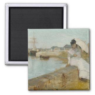 El puerto en Lorient, 1869 (aceite en lona) Imán Cuadrado