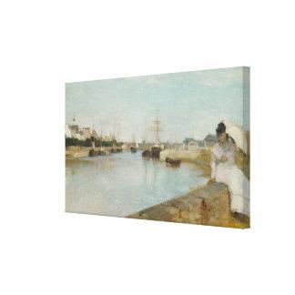 El puerto en Lorient, 1869 (aceite en lona) Lienzo Envuelto Para Galerias