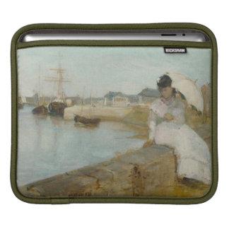El puerto en Lorient, 1869 (aceite en lona) Manga De iPad