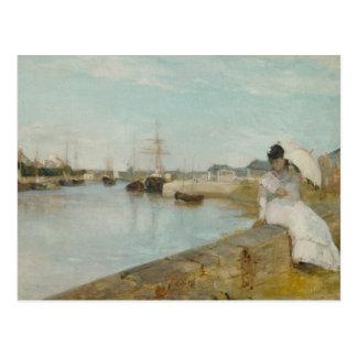 El puerto en Lorient, 1869 (aceite en lona) Tarjeta Postal