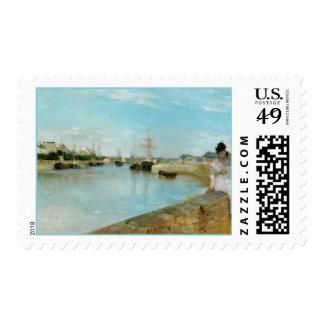 El puerto en los sellos del arte de Lorient Berthe