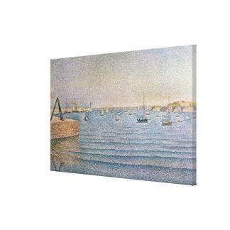 El puerto en Portrieux, 1888 Lona Estirada Galerias