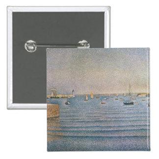 El puerto en Portrieux, 1888 Pin Cuadrado