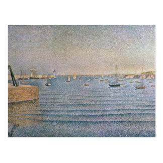 El puerto en Portrieux, 1888 Postal