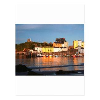 El puerto en Tenby, el Sur de Gales Tarjetas Postales