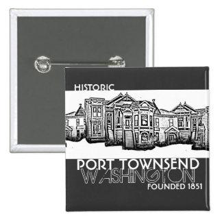 El puerto histórico Townsend Washington fundó el b Pin Cuadrado
