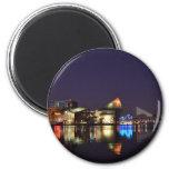 El puerto interno de Baltimore en la noche Imán De Frigorífico