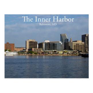 El puerto interno de Baltimore Tarjeta Postal