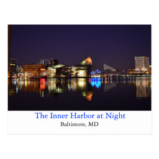 El puerto interno en la noche postales