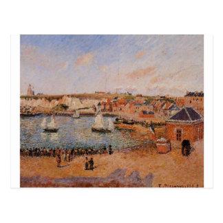 El puerto interno, tarde de Dieppe, Sun, marea Tarjeta Postal