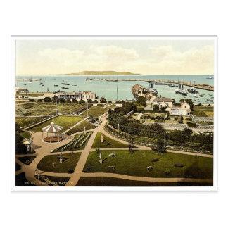 El puerto. Kingstown. Co. obra clásica de Dublín, Tarjetas Postales