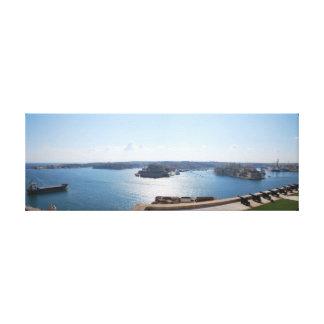 El puerto magnífico, Malta Impresión En Lona Estirada